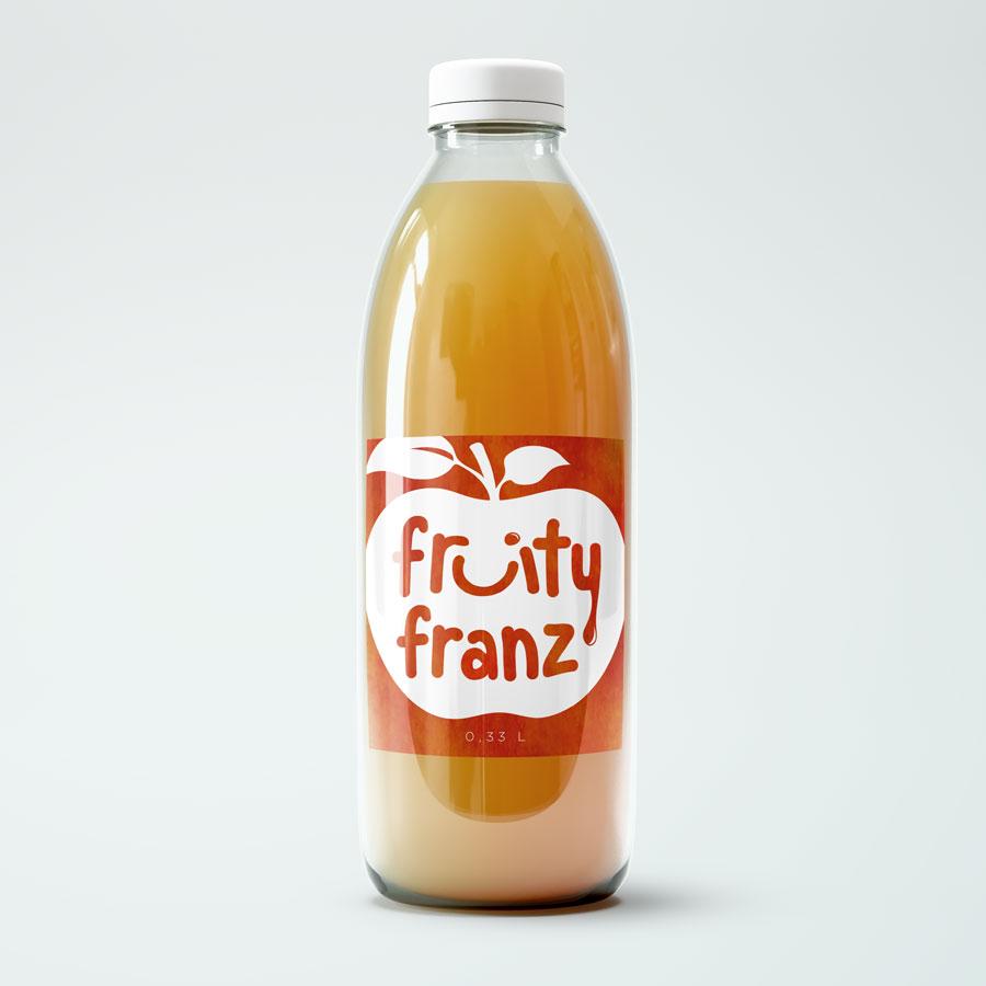 Label Design von Idealist Publishing für Fruity Franz