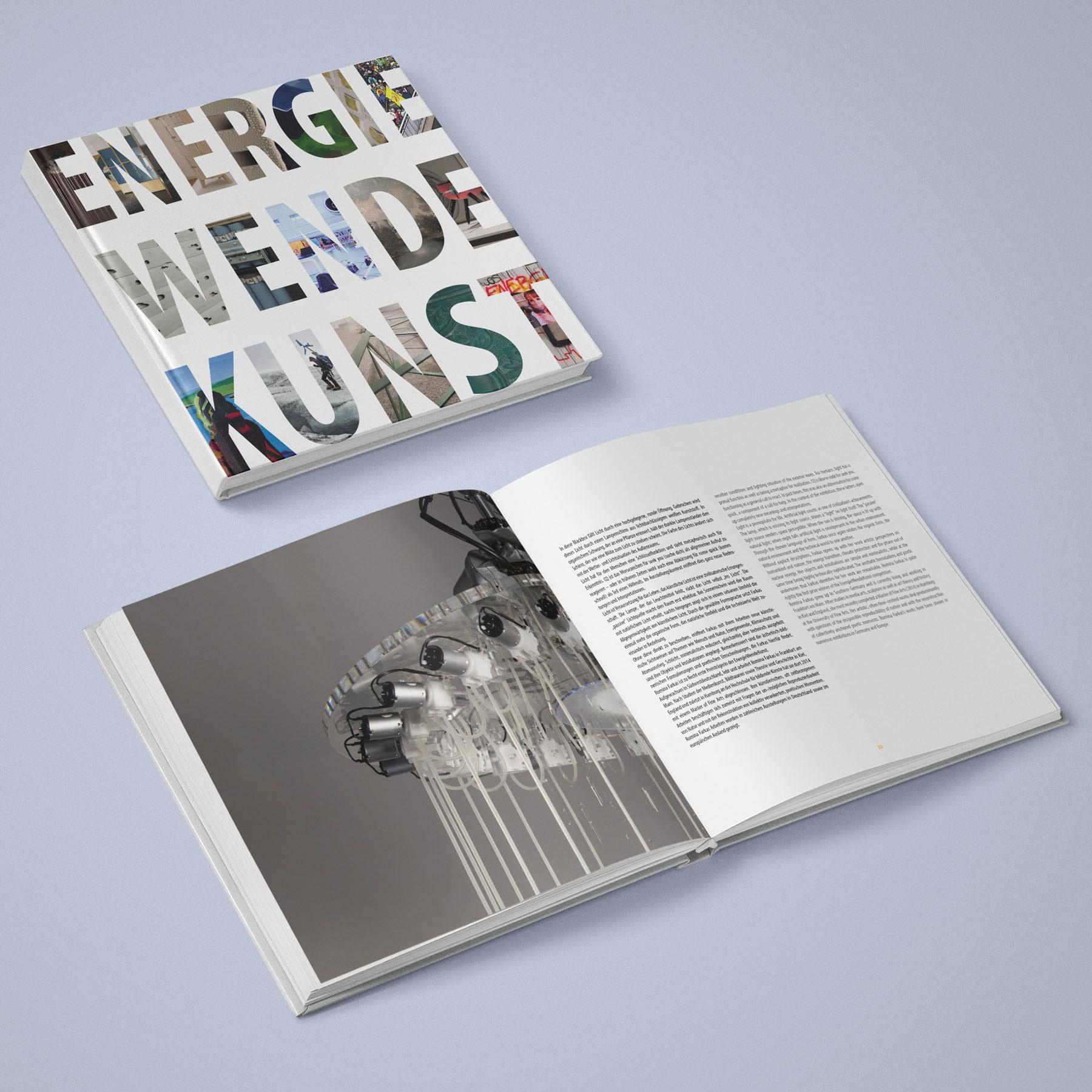 """Ausstellungskatalog zum Kunstprojekt """"Energie Wend Kunst"""" von Idealist Publishing"""