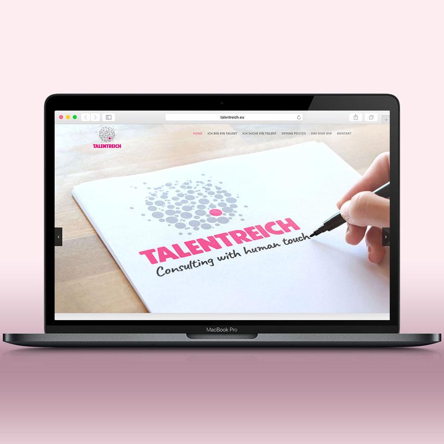 Website von Idealist Publishing für Talentreich